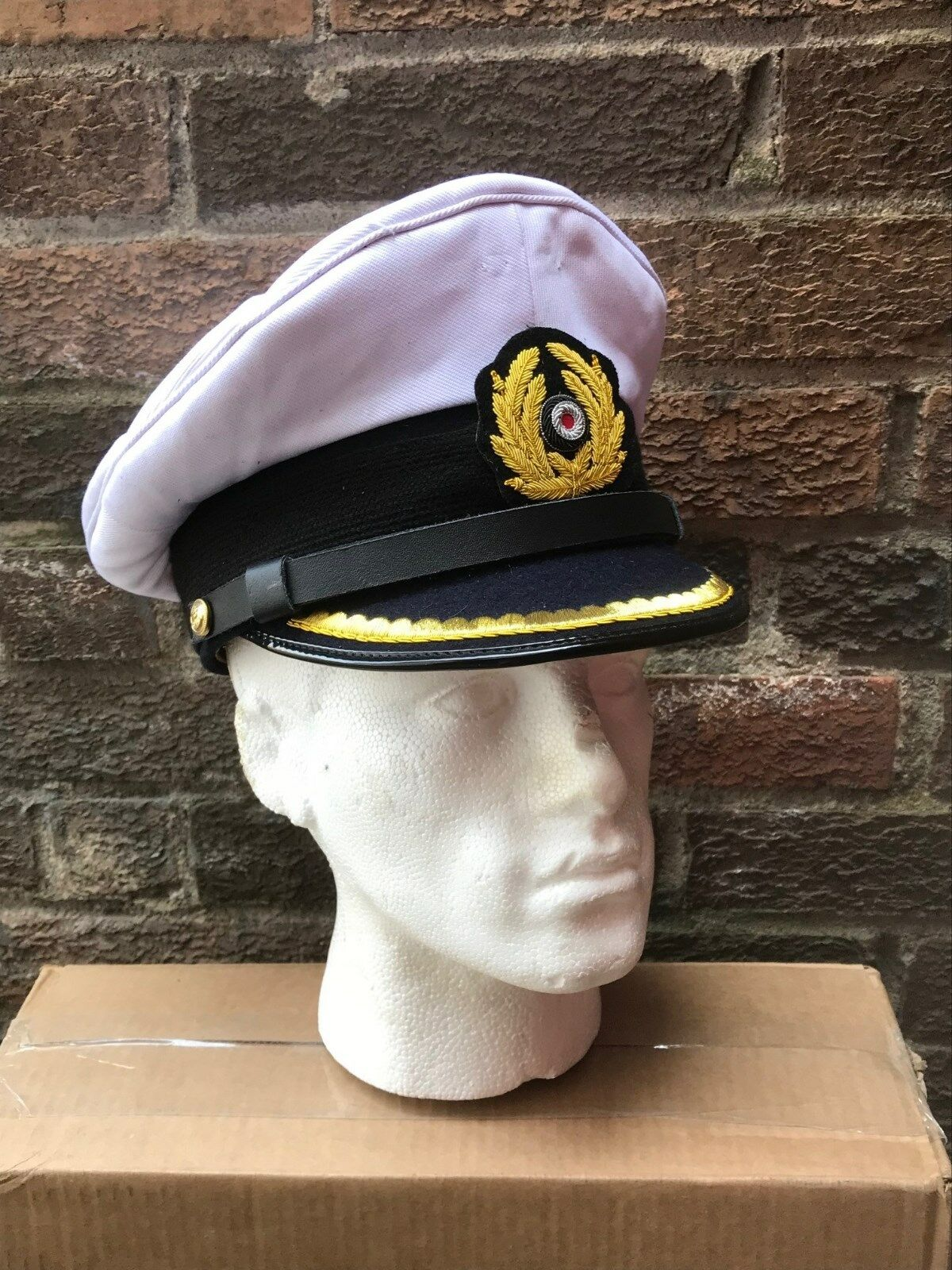WW2 German Navy Kriegsmarine officer visor cap Größe 58