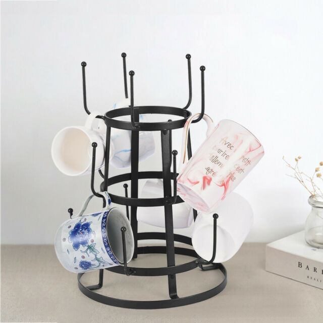 Mug Tree Holder Coffee Cup Tea Drying Rack Stand Storage Organizer Kitchen