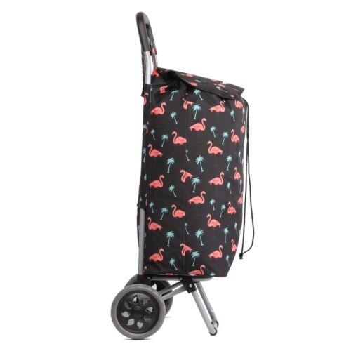 Hoppa grande capacité poids léger à roues Shopping Trolley Push Cart Roues Sac