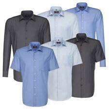 Seidensticker Herrenhemd Herren Business Hemd Kurzarm Langarm Kent blau grau