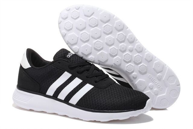 Noir Adidas Neo Lite Racer Chaussures Hommes Baskets Baskets Taille UK 11 NEW IN BOX