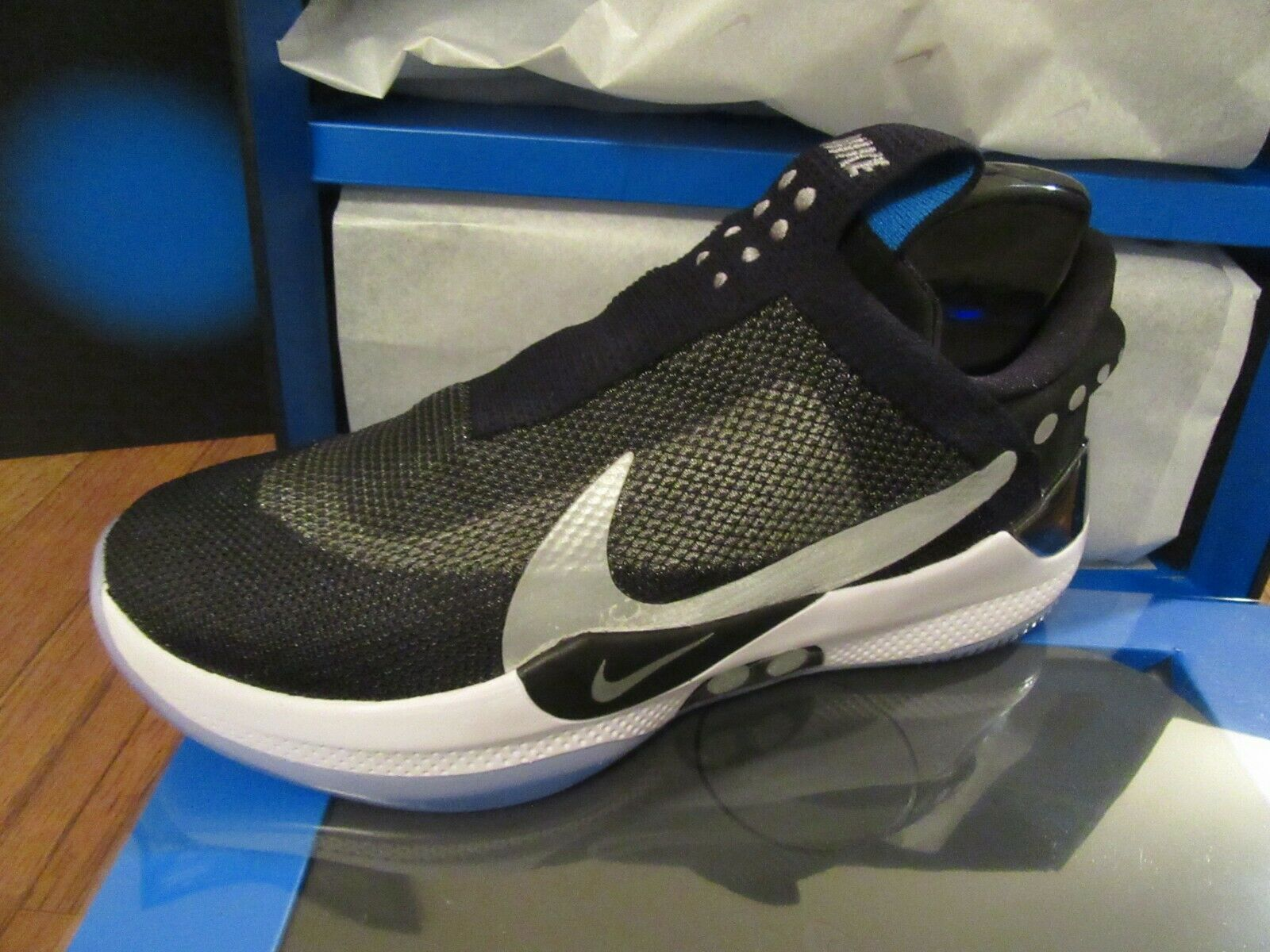Nike Adapt BB Size 11.5 Black Reflect Silver AO2582 001 Brand New DS NIB 2019