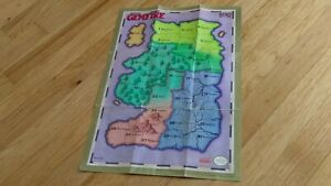 Gemfire-Nintendo-Entertainment-System-NES-KOEI-Poster-Map-Insert-Paper-Lot-CLEAN