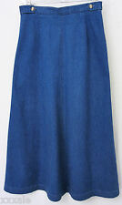 Talbots Petites Size 8 Womens Skirt Deep Blue Quality Denim