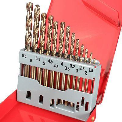 13pcs HSS M35 5% Cobalt Jobber drill Set in Metal Case TopTech Tool HOT