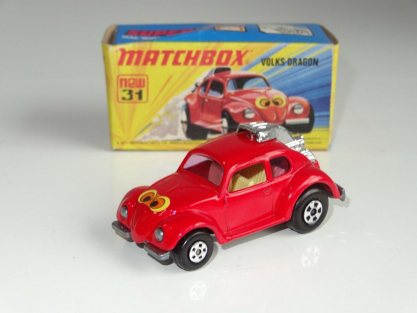 (B) matchbox lesney superfast VW VOLKSWAGEN BEETLE DRAGON - 31