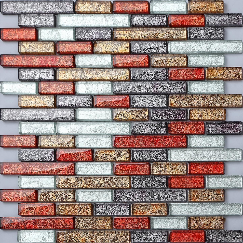 1 SQ M Glass Hong Kong Autumn Mix Bathroom Kitchen Mosaic Wall Tiles 0094