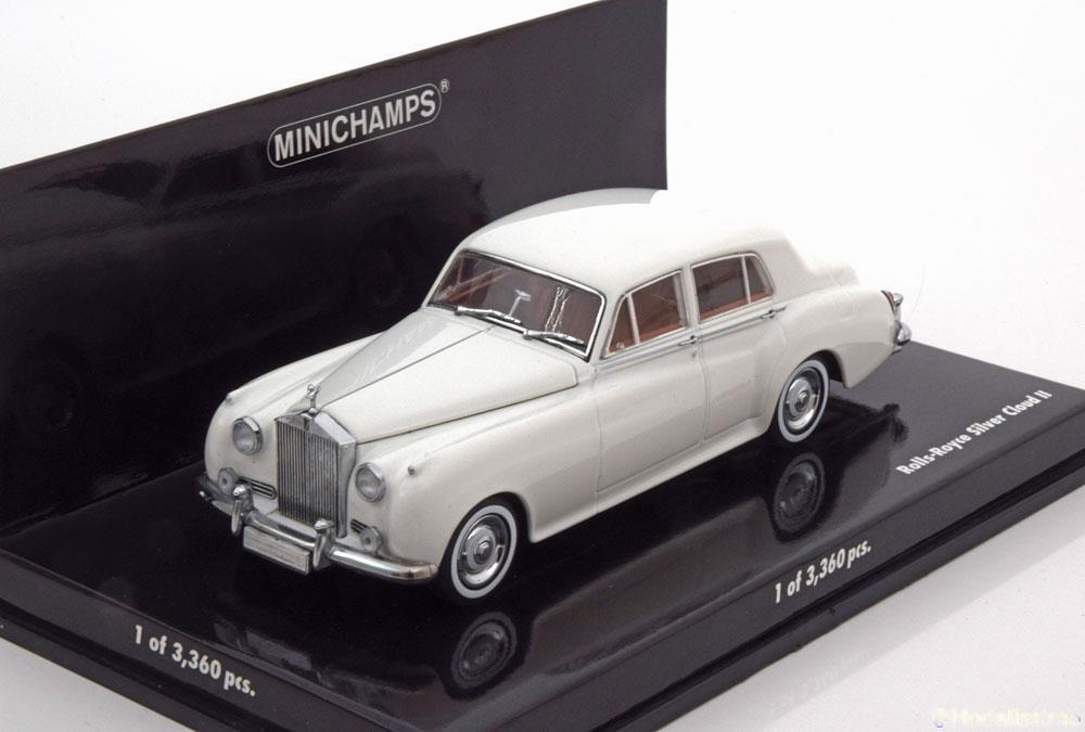 ROLLS ROYCE plata CLOUD II II II blanco 1960 MINICHAMPS 436134900 1 43 WEISS blanco 60a6c6