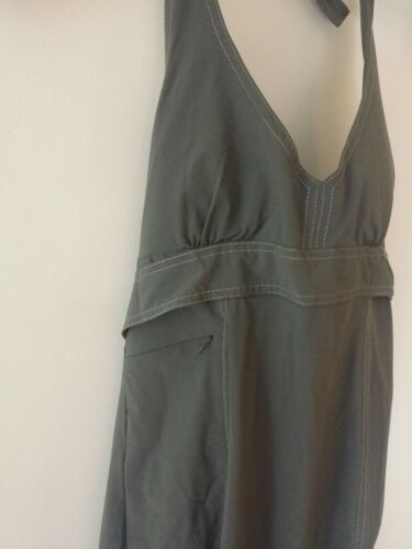 A1 Details about  /Athleta Pack Everywhere Olive Green Women/'s halter dress SMALL