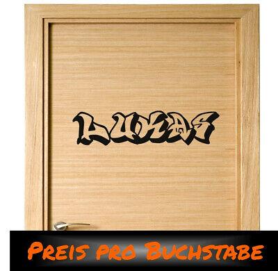 Wunschname Im Graffiti Style Wandaufkleber Wandbild Name Kinderzimmer Wandtattoo Ebay