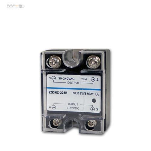 3-32VDC // 30-240VAC max 25A elektronisch Relais Schütz Lastrelais Triac