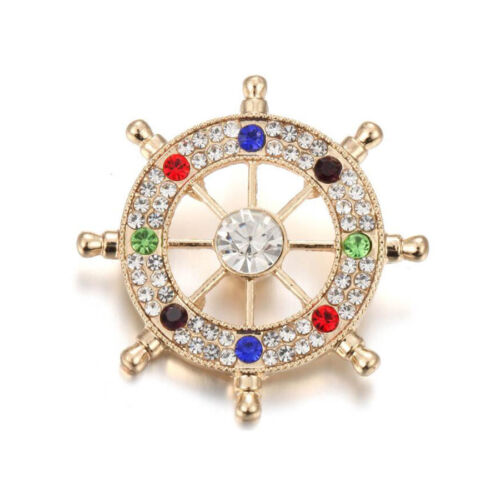 3DCrystal Chunk Charm Snap Button Fit For Noosa Necklace//Bracelet NSKZ163
