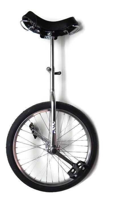 IXS 20  Scooter Monociclo Ciclismo De Cromo Plateado Bicicleta De Circo