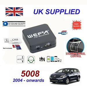 For Peugeot 5008 Music Streaming Bluetooth Telephone Charger SD AUX CD ModuleRD4