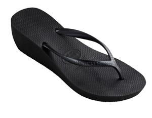 933d123c1ab0 Havaianas Women`s Flip Flops High Fashion Black Platform Sandals 2 1 ...