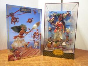 NRFP-Disney-Store-LE-Designer-Fairytale-Collection-MOANA-amp-HEIHEI-Doll-Set