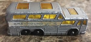 Vintage-Lesney-Matchbox-Series-Number-66-England-Made-Greyhound-Bus-Coach-Gray