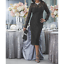 Ashro Katja Lace Dress Black Formal Wedding Dinner Cocktail Party Cruise 6 10 12