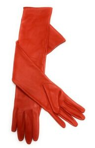 Women's Genuine Sheep Leather Long Opera Evening Dress Gloves (52-54 cm).