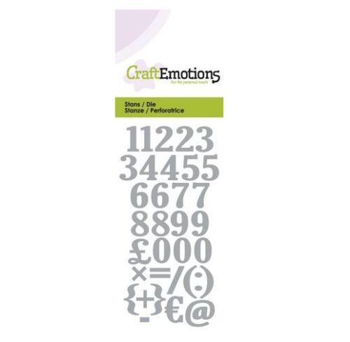 CraftEmotions Die Zahlen Card 5x10cm 330165