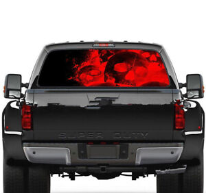 Flaming Skull Sticker Car Rear Window Graphic Decal Truck Suv Decal Tint Sticker