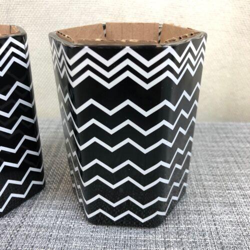 2 New Missoni for Target Black Chevron Stripe Soy Amberwood Jasmine Candles