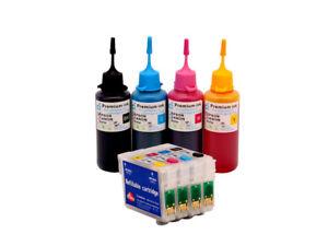 Refillable-Ink-Cartridge-Kits-for-Epson-Printer-S22-SX125-SX130-SX235W-NON-OEM