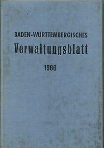 Baden-Württembergisches Verwaltungsblatt 1966 - Kornwestheim, Deutschland - Baden-Württembergisches Verwaltungsblatt 1966 - Kornwestheim, Deutschland