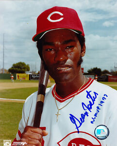 Details about GEORGE FOSTER CINCINNATI REDS NL MVP 1977 ACTION SIGNED 8x10