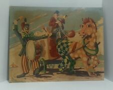 """Clown Parade Paint by Number Clown and smiling horse costume 16""""x20"""""""