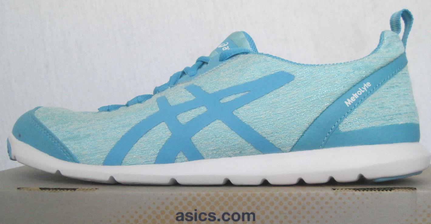 NIB Asics MetroLyte Q651N-4042 Walking Shoe Aqua Splash Turquoise Womens Sz 6-11