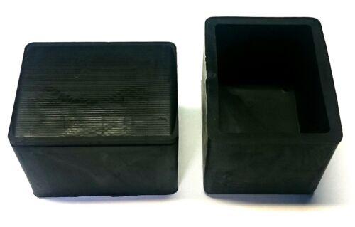 Fußkappe 80x60 mm en caoutchouc noir capuchon chaise de jardin chaise capuchon embout NEUF