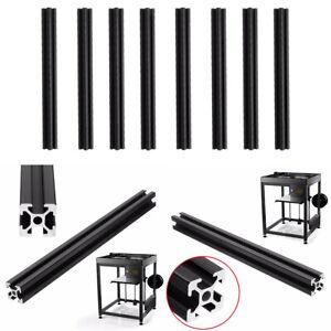 4PCS T-SLOT ALUMINUM PROFILES EXTRUSION FRAME FOR 3D PRINTER BLACK 40CM NEW