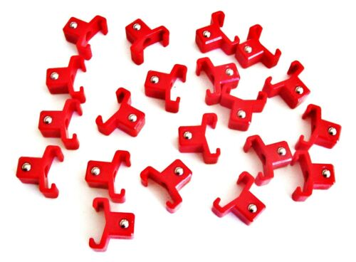"""20 GOLIATH INDUSTRIAL ABS 1//2/"""" RED REPLACEMENT SOCKET RACK RAIL CLIPS SC12R"""