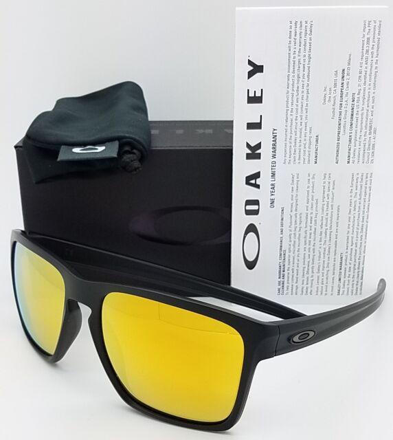 0692e1d4f5a NEW Oakley Sliver XL Sunglasses Matte Black 24K Iridium gold 9341-07  AUTHENTIC