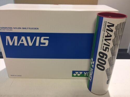6 X YONEX MAVIS 600 BADMINTON SHUTTLES SHUTTLECOCKS RED / FAST MADE IN JAPAN