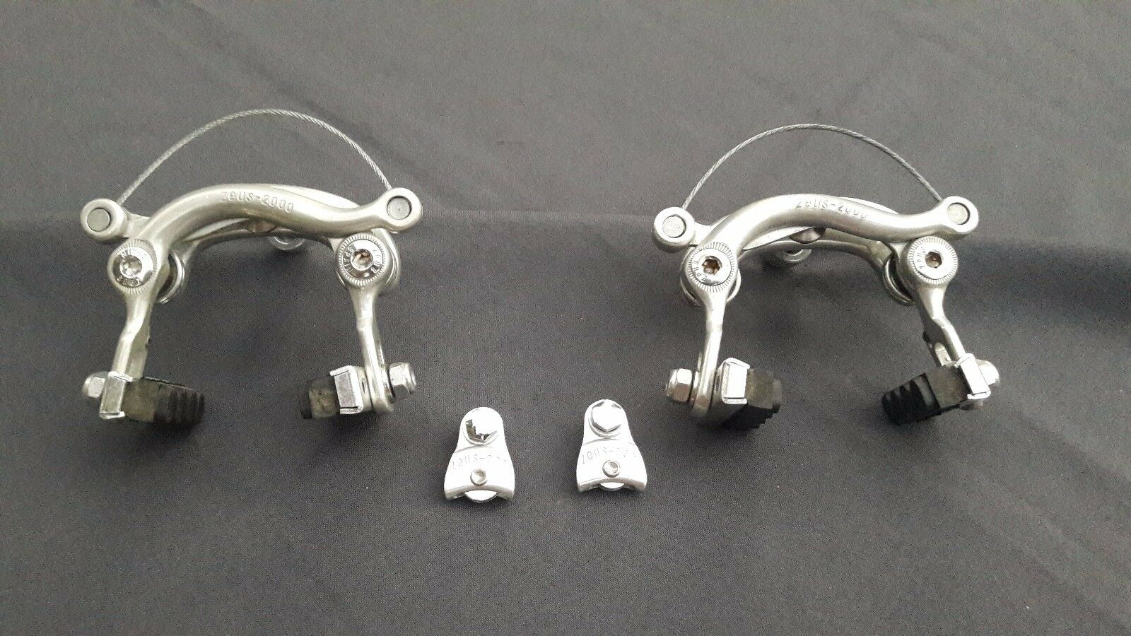 Zeus 2000 - Caliper Set - Bike - Front and  rear - Traditional nut style Vintage  in stock