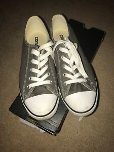 Details about Converse Chuck Taylor All Star Dainty Ox Women's Shoes Charcoal 532353f