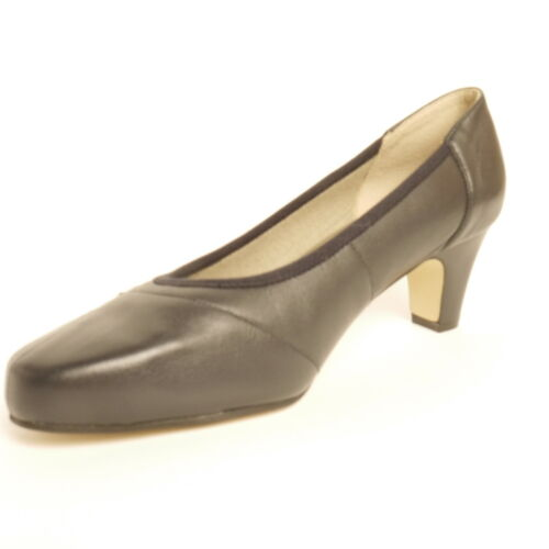 Equity Claire 2 Court Shoe Navy//Pewter  EEE Extra Wide Fitting Leather Uppers