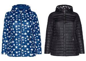 huge discount 6567e 2e4f4 Details zu sheego Damen Leichte Steppjacke mit Kapuze Jacke Blau Schwarz  Blue Black NEU