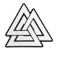 Valknut Embroidered 4 Inch Iron On Mc Biker Patch