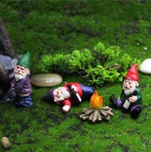 Mini Drunk Gnome Dwarfs Funny Resin Statue Outdoor Cute DIY Bonsai Decoration