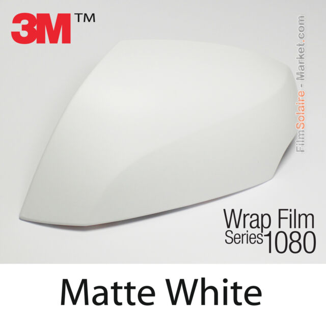 Car Wrap Vinyl Film 25 sq//ft 3M 1080 M10 Matte White 5ft x 5ft