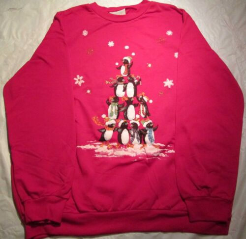 Christmas design Blair Red Sweatshirt 2XL  60 Cotton//40 Polyester