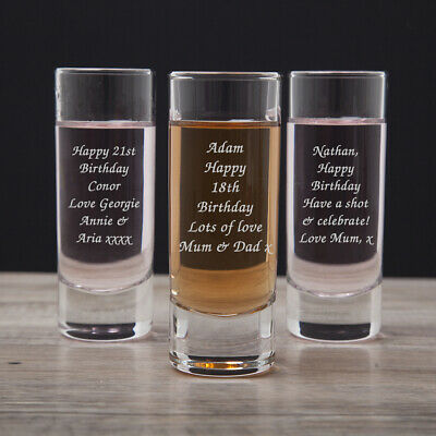 Personalised Shot Glass For Birthday 18th 21st 30th Gifts Ideas Girls Mens Him Ebay