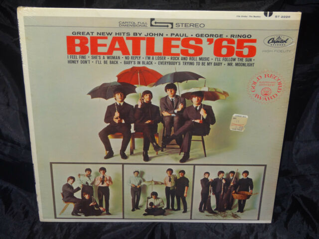 The Beatles Beatles '65 SEALED USA 1968? PASTA ON COVER LP W/ RIAA 12