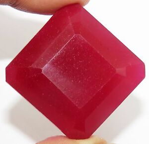 Certified-Madagascar-Pinkish-Red-Ruby-139-90-Ct-Marvelous-Square-Shape-Gemstone