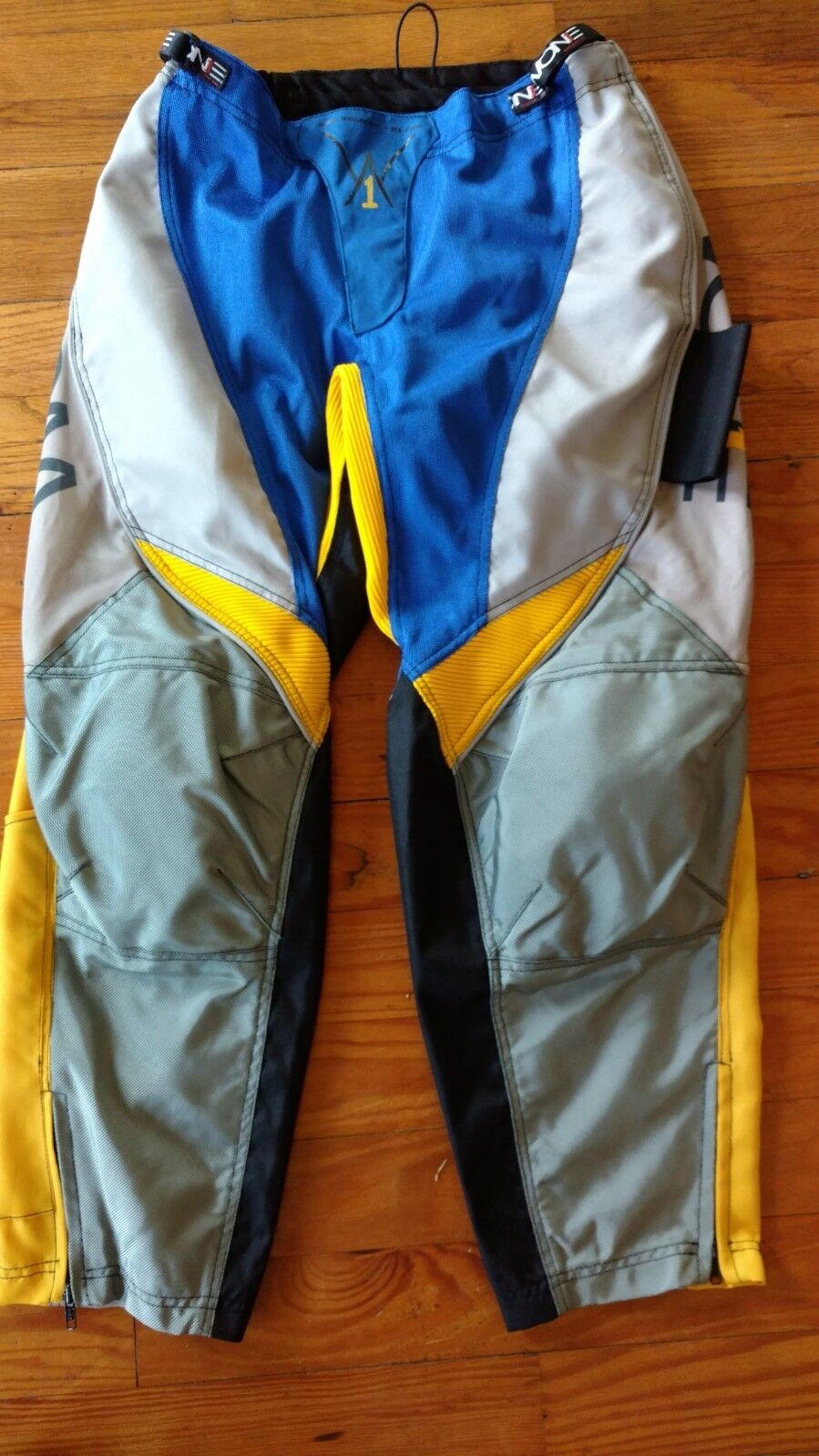 Wone Large blu grigio giallo Paintball Pants