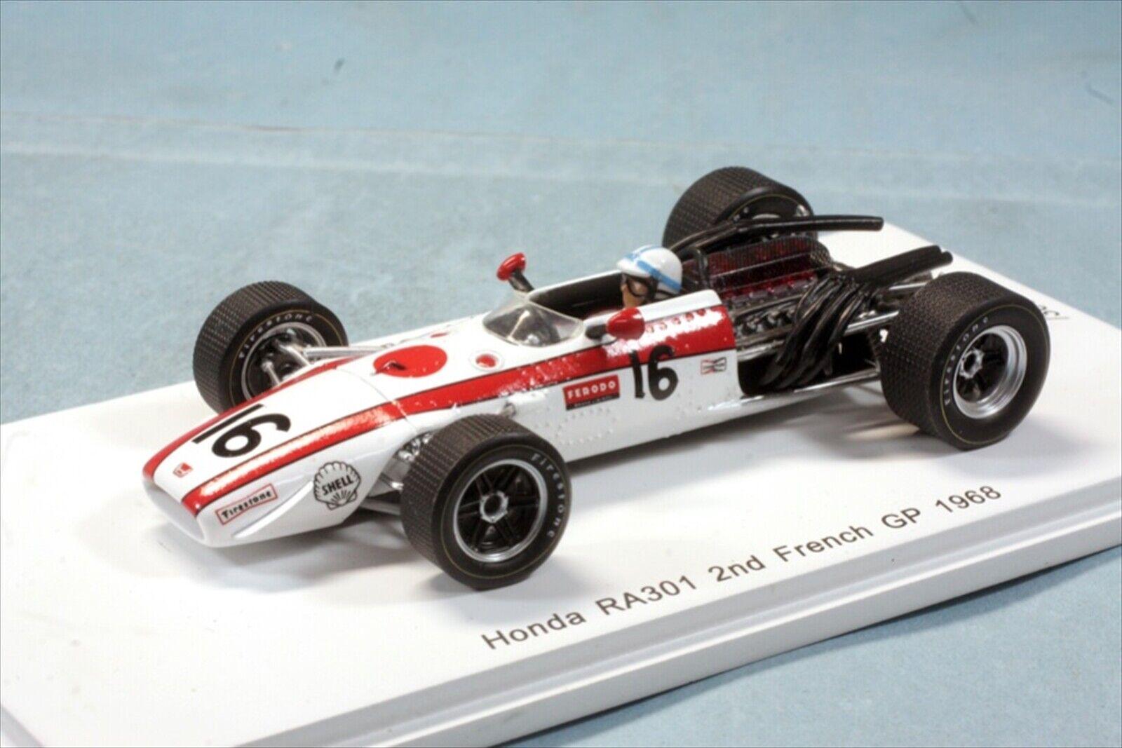 Romu SPARK 1 43 HONDA RA301 FRANCE GRAND PRIX 1968 2nd John Sartes limited 300 unités NEUF