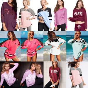 Women-039-s-Long-Sleeve-Hoodie-Sweatshirt-Casual-Hooded-Coat-Pullover-Tops-Blouse